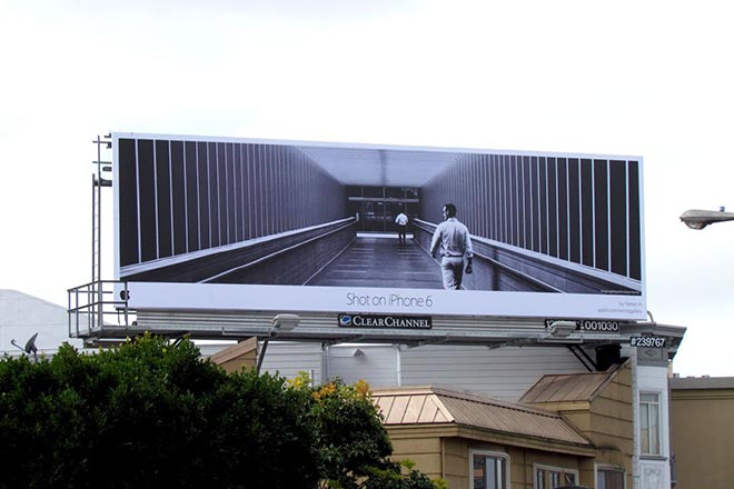 Image shot by an iphone 6 on a billboard