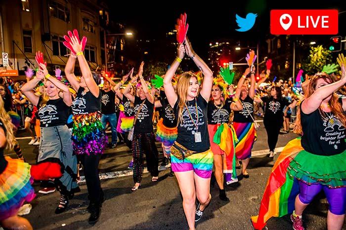 Twitter Live Stream Sydney Mardi Gras