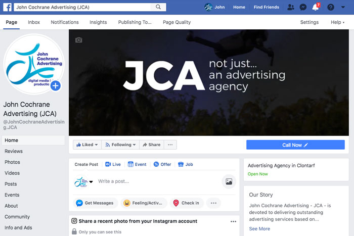 Facebook Page Opimisation